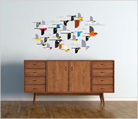 Charley Harper: A Flock of Birds Wall D�cor