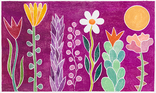 Image from Lisa Houck's board book, Flowers Grow All in a Row